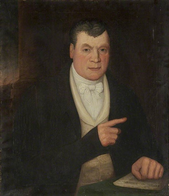 Mr Thomas Swindlehurst, oil on canvas,  c.1834, artist unknown. Courtesy of the Harris Museum & Art Gallery