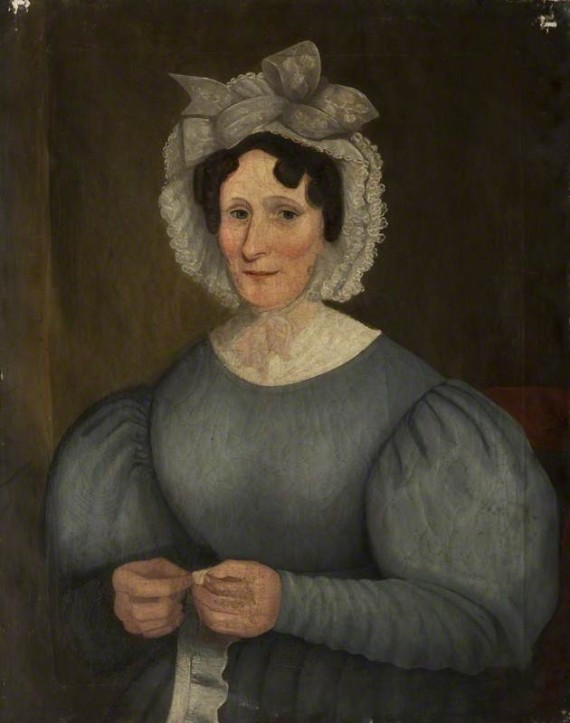 Mrs Sarah Swindlehurst, oil on canvas,  c.1834, artist unknown. Courtesy of the Harris Museum & Art Gallery