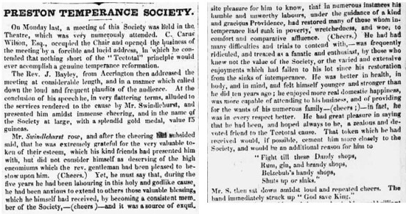Article from the Preston Chronicle of 24th June 1837
