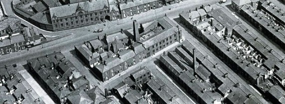 This picture taken in about 1900 shows the location of the Phoenix Roller works on Byron Street.