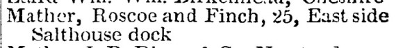 "Entry in a Liverpool Trade Directory for 1829 under ""Ironfounders"""