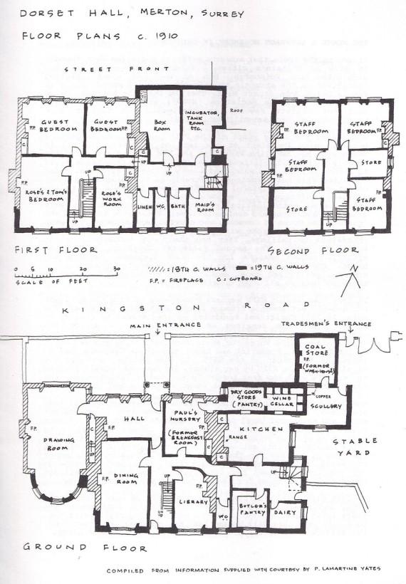 Floor Plans c 1910