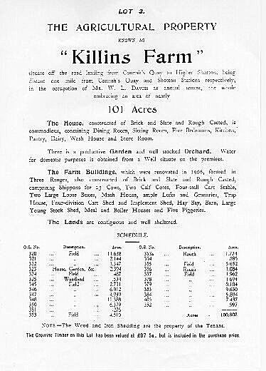 Extract of  Auction Catalogue July 14th 1920