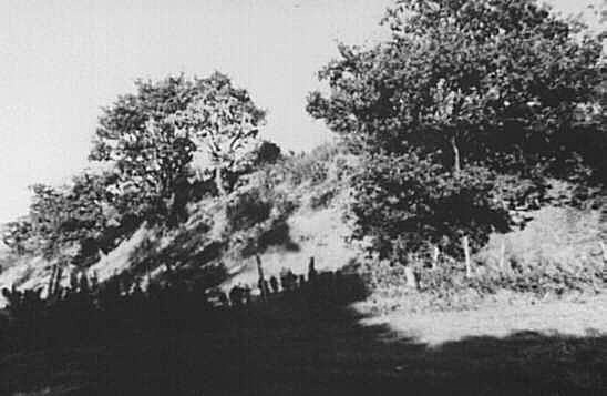 The remains of the Latchcraft Colliery in  1940. Spoil heaps remain today