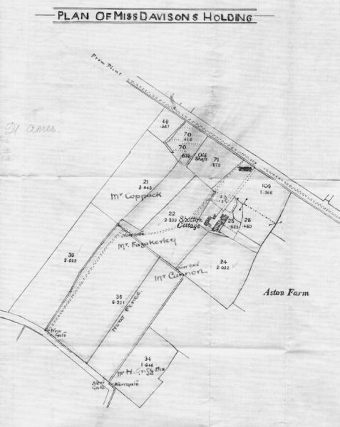 Plan of the Shotton Cottage Farm from c. 1900