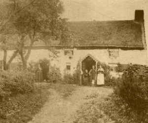 This picture from 1880 shows a cottage in Shotton (Possibly Shotton Cottage?)