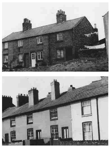 Houses in  Woodland Street (top) and Brook Road in 1950 (Demolished  1959)
