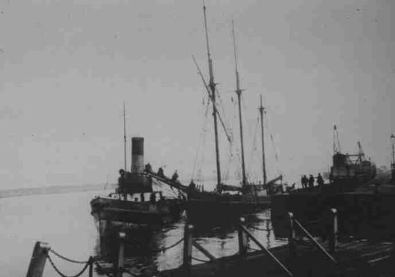 """The Ship """"Ryeland"""" at dock in Connah's Quay"""
