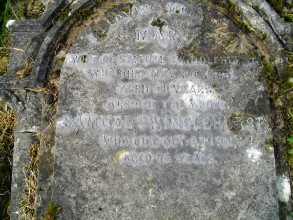 The gravestone of Samuel Swindlehurst